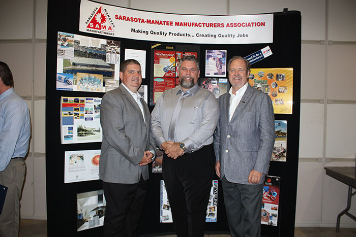 Dr. Todd Bowden, Director of SCTI. Precision Machining Instructor, Ed Doherty Peter D. Straw, SAMA Executive Director and member of SCTI School Advisory Council